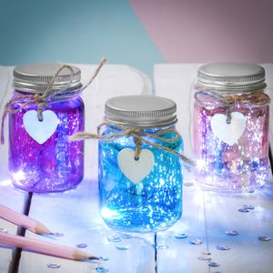 Set Of Three Mini Firefly LED Jars - home accessories