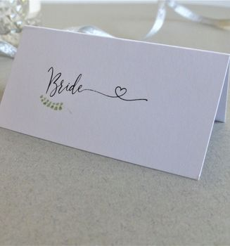 Romantic Personalised Place Cards