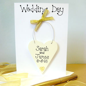 Personalised Wedding Day Card - wedding cards