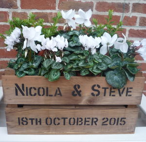 Personalised Vintage Style Crate - personalised