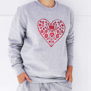 Nordic Heart, Christmas Jumper Sweatshirt - christmas clothing & accessories