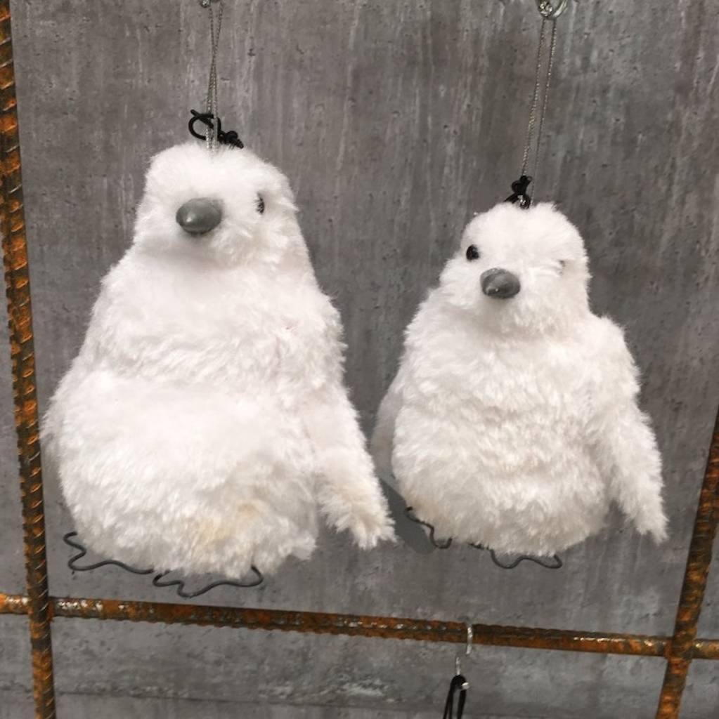 Penguin Christmas Tree: Two Penguin Christmas Tree Decorations By Lime Tree London