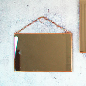 Copper Hanging Metallic Wall Mirror - summer sale
