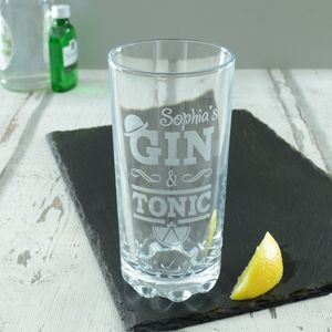 Gin And Tonic Personalised High Ball Glass - our favourite gin gifts