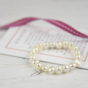Personalised Girl's Christening Bracelet With Verse - children's accessories