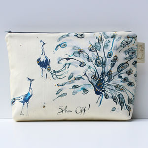 Show Off Peacock Wash Bag