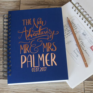 Personalised Wedding Gift Memory Book - best wedding gifts