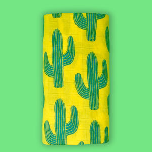 Bright Cactus Muslin - new in home
