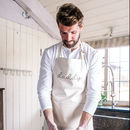 Personalised Daddy Cotton Kitchen Apron