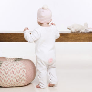 Lila Bunny Babygrow And Hat Gift Set - children's accessories
