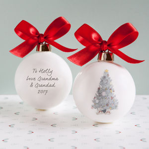 Baby's Personalised Christmas Bauble