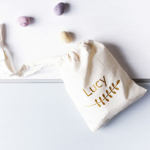 Personalised Spring Easter Egg Hunt Bag