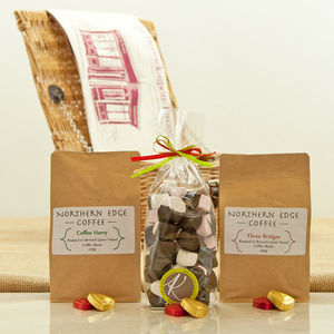 Artisan Roasted Coffee Beans And Chocolates Hamper