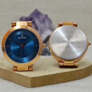 Engraved Ladies Watch Rose Gold - watches