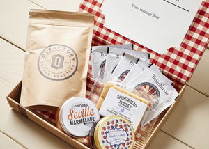 Personalised Luxury Breakfast Letter Box Hamper - alcohol free hampers