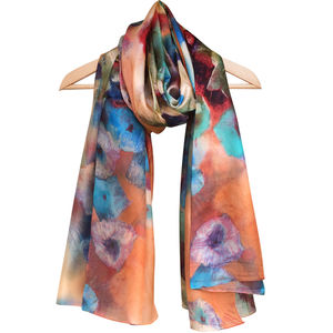 Large 'Purcell' Pure Silk Scarf - scarves
