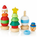 Wooden Stacking Christmas Characters