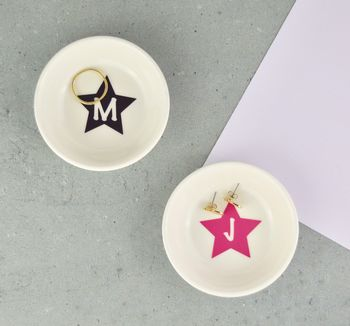 Personalised Star Mini Ring And Trinket Dish