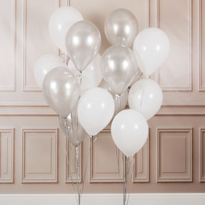 Pack Of 14 Innocence Wedding Party Balloons - room decorations