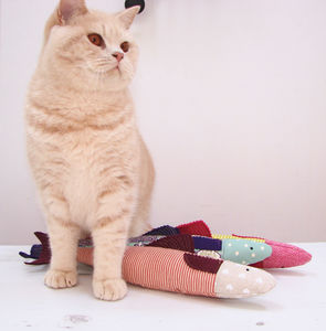 Giant Trout Kicker Valerian Root Or Catnip Toy, Cat Toy