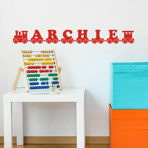 Name Train Wall Art Decal