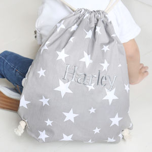 Children's Personalised Drawstring Bag