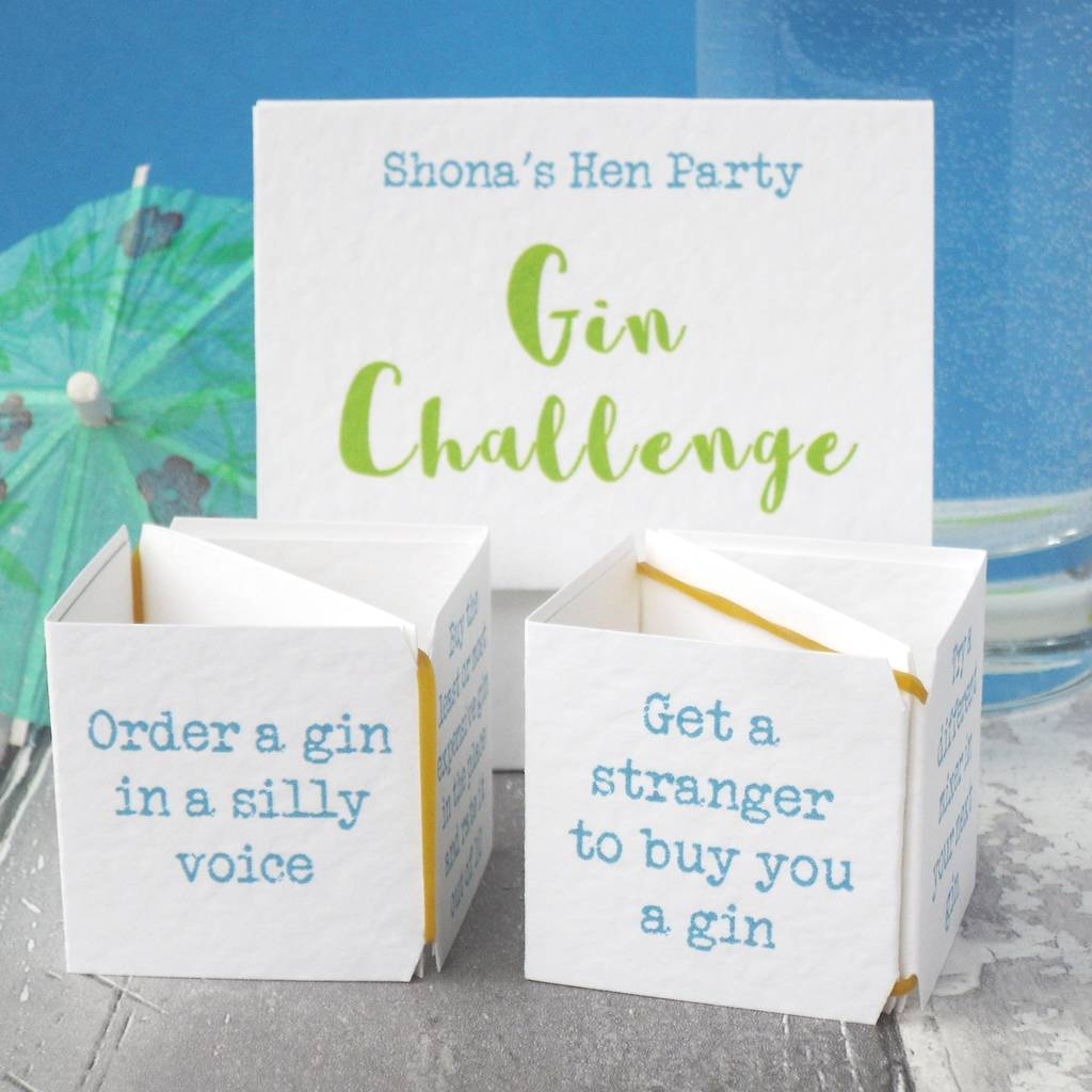 pop up gin challenge hen party game by paperbuzz ...