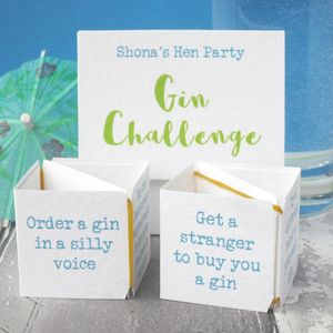 Pop Up Gin Challenge Hen Party Game