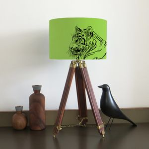 Tiger Lampshade With Fifteen Fabric Colour Options - children's room