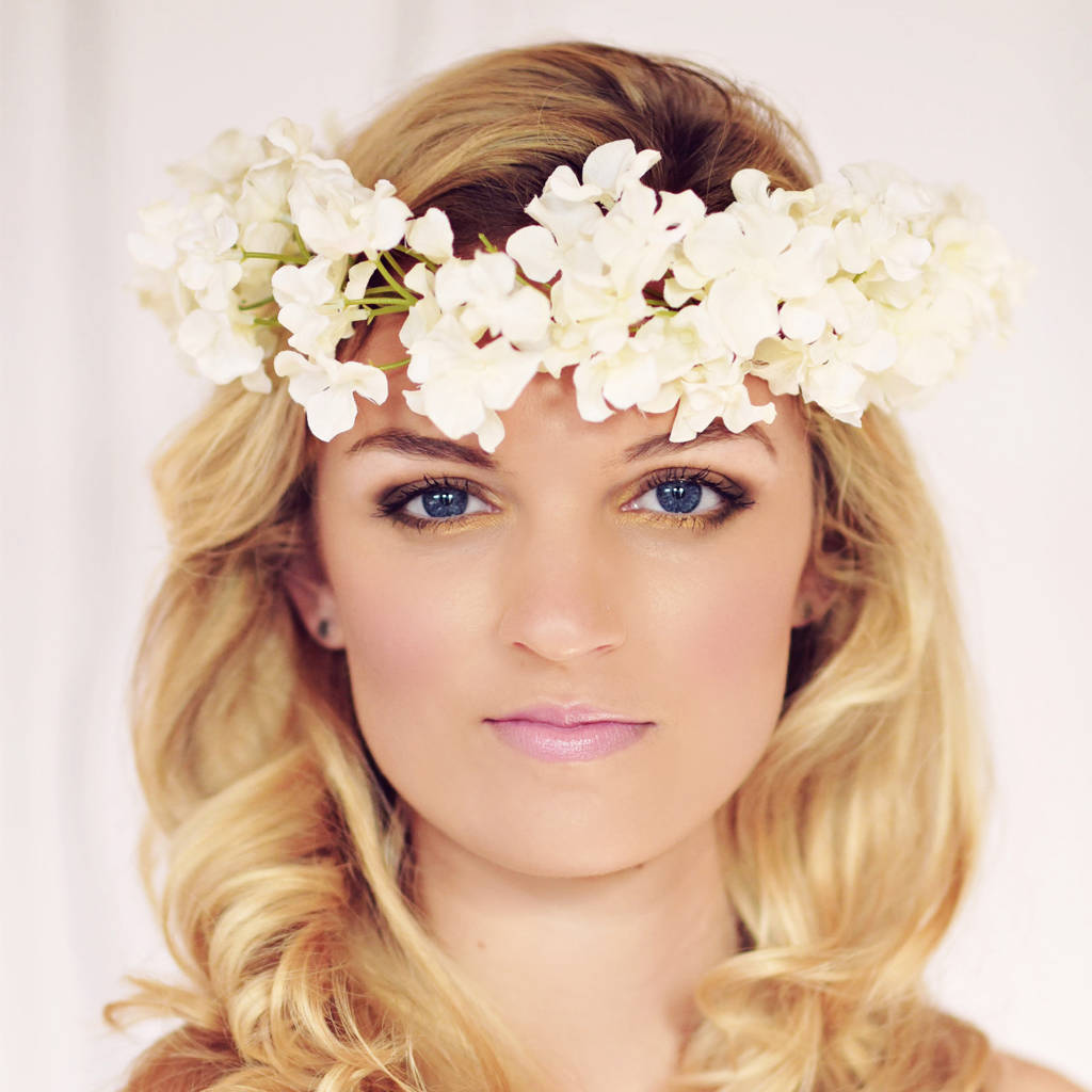 Ebony Blossom Flower Headband