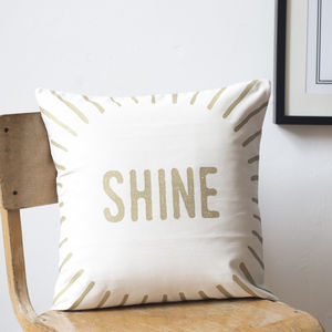 'Shine' Metallic Cushion Cover - cushions