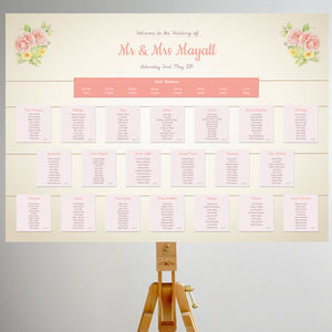Rose Garden Vintage Table Plan - table plans