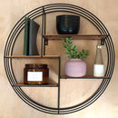 Round Black Metal Display Shelf