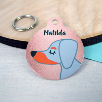 Copper Dog ID Tag Personalised