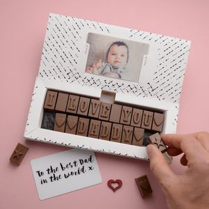 Chocolate Message For Dad