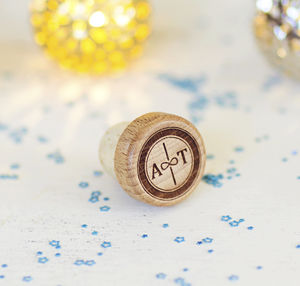 Infinity Personalised Wine Bottle Stopper - wedding favours