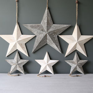 Wooden Hanging Star - christmas parties & entertaining