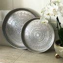 Khushi Aluminium Round Decorated Tray