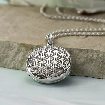 Sterling Silver Round Filigree Locket