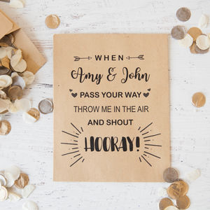 10 Personalised Confetti Rhyme Packets