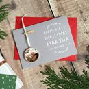 Personalised First Christmas Keepsake Decoration Card