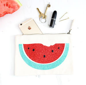 Glittery Watermelon Accessory Bag - 18th birthday gifts