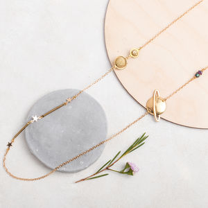Orbit Planet And Stars Necklace - necklaces & pendants