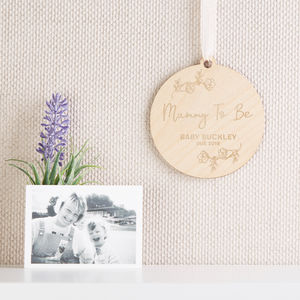 Mummy To Be Personalised Wooden Keepsake - gifts for mums-to-be