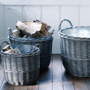Zinc Lined Willow Basket
