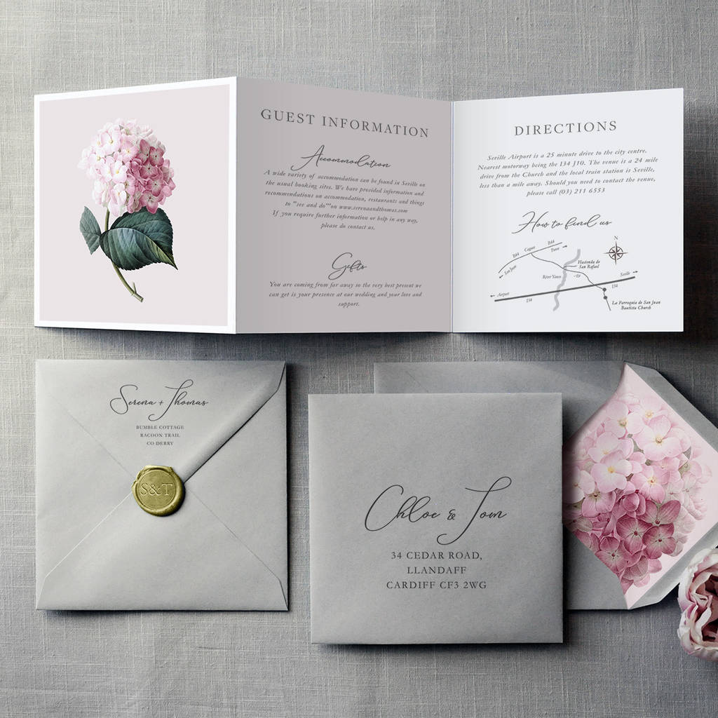 French Fancy Wedding Invitation By Feel Good Wedding