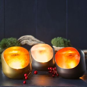 Set Of Three Pebble Tealight Holders - candles & home fragrance