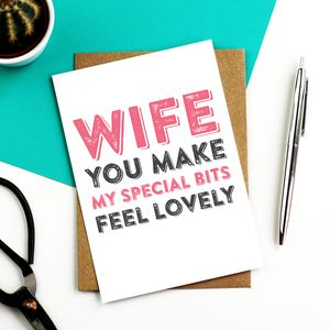 Wife You Make My Special Bits Greetings Card