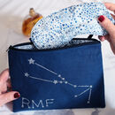 Personalised Star Sign Make Up Bag + Eye Mask Gift Set