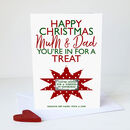 Personalised Scratch Off Christmas Surprise Card A5